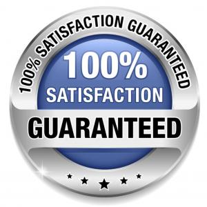 Satisfaction gauranteed